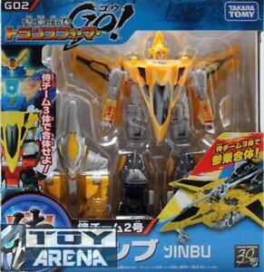 Transformers Go! G02 Jinbu Samurai Jet Voyager Class Beast Hunters Takara