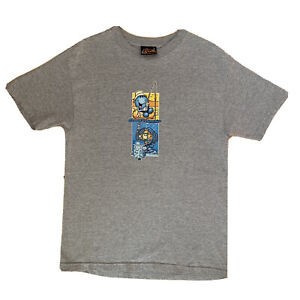 World Industries Fire and Ice Vintage Shirt Medium Grey Skater Shortys Hook Ups