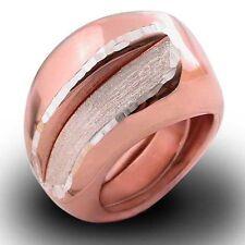 ANELLO donna ARGENTO 925‰ placcato oro rosa con diamantature misura regolabile