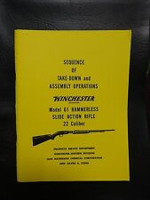 Winchester model 61 Hammerless manual approved by Winchester 35 yrs ago