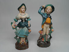 """Staffordshire Ware Figurines , Man and Woman 5"""" tall  each"""