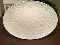 "Vintage Rare LENOX ""Special"" Large Oval 16.5"" Bone-White Serving Turkey Platter"