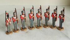 8 VINTAGE LEAD SOLDIERS 6.5cm Tall