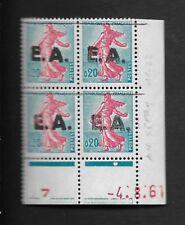 Coin-Daté 0,20F Semeuse, surch. EA d' AIN SEFRA, type 11-22