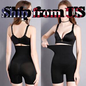 Women's Fajas High Waist Shorts Girdle Pants Body Shaper Tummy Control Shapewear