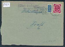 87164) OWL  Landpost Ra2 (21a) Eickum über Herford, Brief - Vorders. 1953