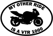 My Other Ride Is A Honda VTR 1000 Motorcycle Car Window Vinyl Decal Sticker