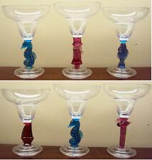 Vintage Margarita Glasses Set Of (6) Acrylic Taiwan The Grooviest