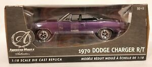 1/18 1970 Dodge Charger R/T Purple American Muscle Authentics Ertl New