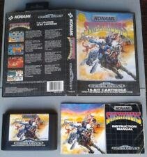 SEGA MEGA DRIVE SUNSET RIDERS KONAMI COMPLETO CAJA Y MANUAL BOXED CIB PAL