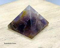 REIKI ENERGY CHARGED AMETHYST  POWER NATURAL HEALING CRYSTAL STONE PYRAMID UK
