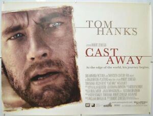 CAST AWAY (2000) Original Cinema Quad Movie Poster - Tom Hanks, Robert Zemeckis