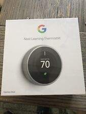 Google T3007Es Nest 3rd Gen. Learning Thermostat - Stainless Steel
