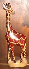 "RARE Vintage Hand Carved Wooden 'Giraffe' 12"" Tall ~ Rare! Masterpiece! folk art"