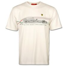 Ferrari T-Shirt Mens Wind Tunnel White S M     RRP £37