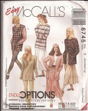 Easy McCall's CARDIGAN TUNIC TOP SKIRT Pattern...Select-a-Size...6745 UNCUT