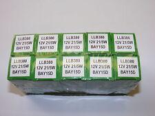 A TEN(10) PACK ORIGINAL LUCAS LLB380 12v 21/5 W BAY15D BRAKE/TAIL LIGHT BULB 380