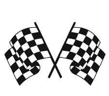 racing flag large 12x6 rally vinyl car sticker race vw ford peugeot vauxhall bmw