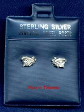 BUTTERFLY STERLING SILVER EARRINGS SURGICAL STEEL POSTS