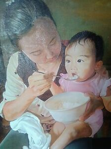 """My First Rice"" 2'x3' oil on canvas"