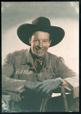 "1940s vintage ""WILD"" BILL ELLIOTT 5x7 photo"