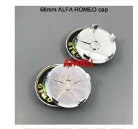 4pcs 68mm ALFA ROMEO Car Wheel Center Hub Cap Cover Sticker 68 ALFA ROMEO C