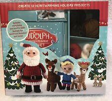 Crochet amigurumi Rudolph Red Nose Reindeer Figure Kit patterns yarn Read!