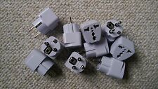 Lot of 10: EU UNIVERSAL TRAVEL ADAPTER PLUG / CONVERTER: UK, US, ASIA to EU