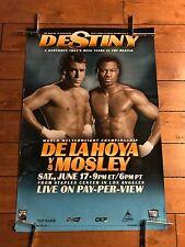 OSCAR DE LA HOYA vs SUGAR SHANE MOSLEY 1 Original TOP RANK PPV Boxing Poster