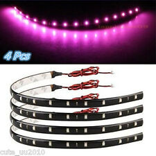 4 X Purple Super Bright 15LED 30CM Car Motorcycle Grill Flexible Light Strip New