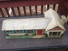 Vintage Metal Large Toy Doll House 1960 Marx Rare 5 Room Realistic Nursery Litho