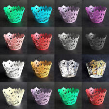 20pcs Butterfly Cupcake Wrapper Cases Laser Cut Wraps Wedding Birthday Party UK