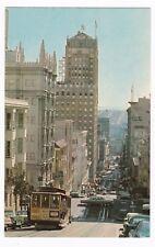 Postcard, Powell St. San Francisco, Cable Car, Old Cars, CA
