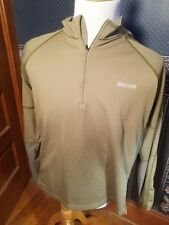 Marmot Men's Sz Xl Grey Beige Green Athletic 1/4 Zip Pullover Shirt