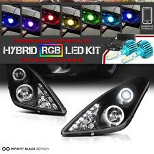 [3200 Lumen RGB LED Bulbs] Black Halo Projector Headlamp For 00-05 Toyota Celica