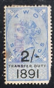 GREAT BRITAIN Transfer Duty 2/- 1891 Used