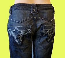 ANTIK 27 denim destroyed embroidered USA DENIM western flare stitch