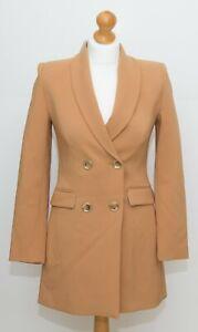 ZARA Camel Double-Breasted Blazer Dress size XS BNWT