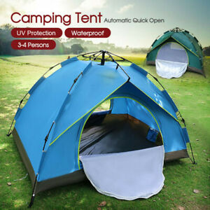 Waterproof Automatic Quick Open Camping Outdoor Tent UV Protection 3-4 Persons