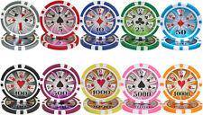 New Bulk Lot 600 High Roller 14g Clay Casino Poker Chips - Pick Chips!