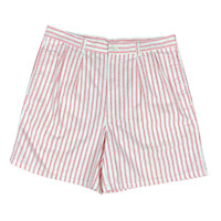 """Flyers by Royal Palm Pleat Front Striped Shorts Red White Sz 34 6"""" Inseam Retro"""