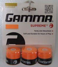 NEW Gamma Supreme Overgrip - 3 Pack - Tennis over grip Orange