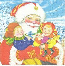 1 Lunch Papier Serviette Napkin (BP504) Nikolaus mit Kinder