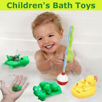 US Kids Water Bathing Duck Crocodile Turtle Baby Bath Toy Set Squeezing  *