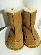 UGG Boots Baby Leather Sheepskin Booties Infant Girl Size S Small 6-12 Months