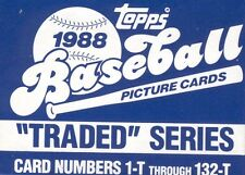 Lot of 10 Sets - 1988 Topps Traded Box Sets