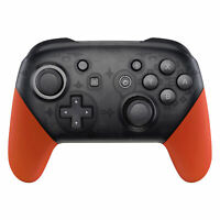 Soft Touch Orange Handle Grips Shell Cover for Nintendo Switch Pro Controller
