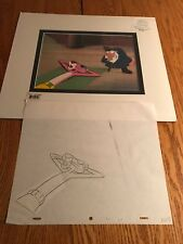 THE PINK PANTHER ORIGINAL PRODUCTION MATTED ANIMATION CEL+SKETCH ANGRY SAILOR P9