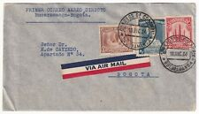 COLOMBIA - PRIVATE AIRMAIL CARRIER - SACO - FF COVER - B/MANGA to BOGOTA - 1934