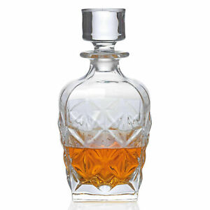 RCR Enigma Luxion Crystal Whisky Decanter, 860ml party table drink - Brand New